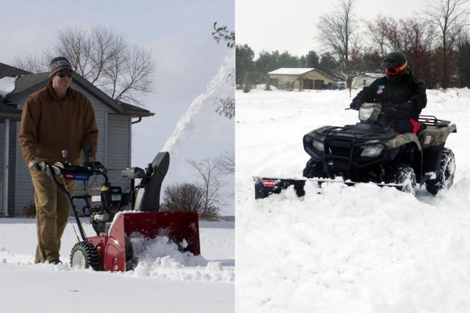 Snowblower vs. Snow Plow