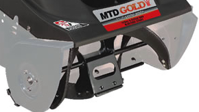 The curved auger attacks 10-inch snow depth and clears a path up to 21-inches in width.
